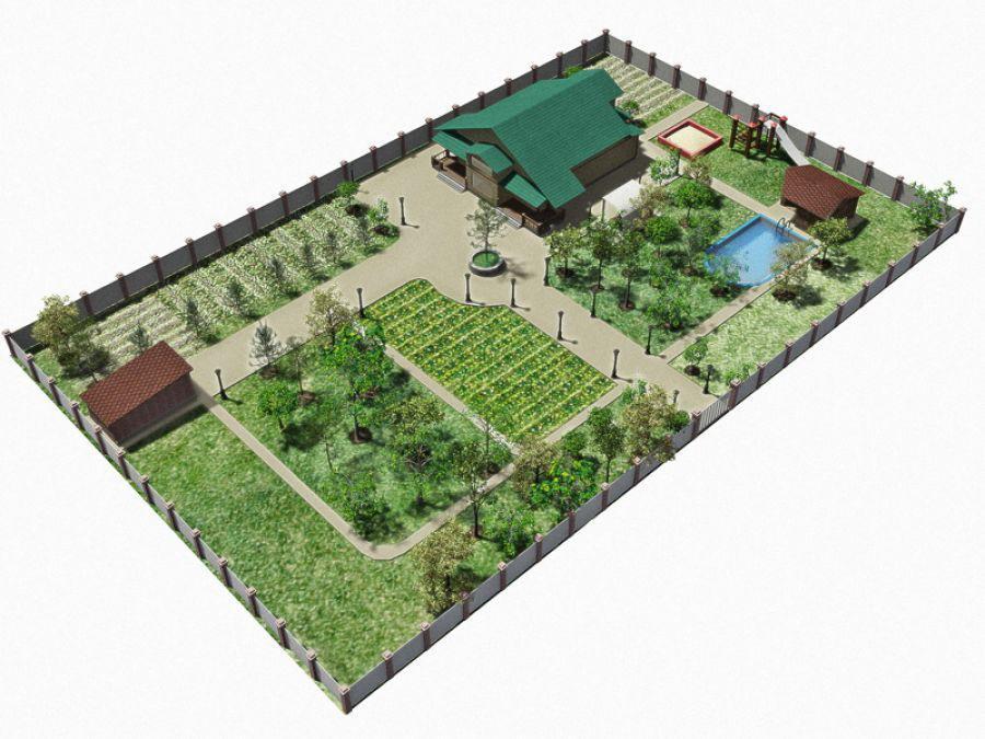 План ландшафтного дизайна загородного дома