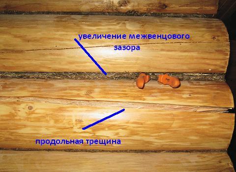 Как сделать перегородку в доме из бревна 31